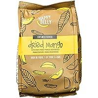 Marca Amazon - Happy Belly Mango deshidratado, 7 x 100 g
