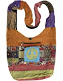 KayJayStyles Hobo Bohemian Recycled Patch Peace Crossbody Bag Nepal