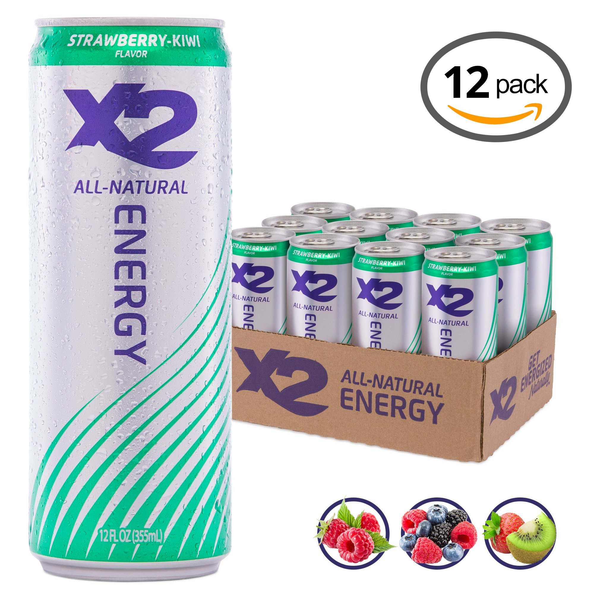 X2 All Natural Healthy Energy Drink: Great Tasting Non-Carbonated Energy Beverage with No