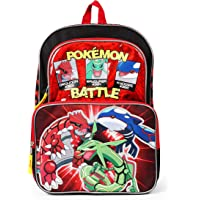 Pokemon, Groudon, Kyogre and Rayquaza Backpack School Bag, 16 Inch, Red