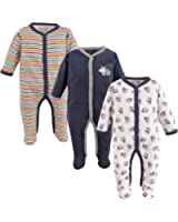 Snap Front Sleep N Play, 3-Pack for 3-6 Months