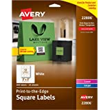 Avery Permanent Square Label, White, Inkjet/Laser, 2 x 2-Inches