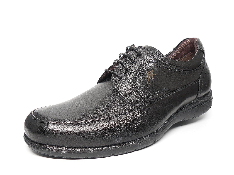 Zapatos hombre FLUCHOS - Piel, con cordones, disponible en Marrón y Negro - 8498 - 57 y 58 (43, negro)