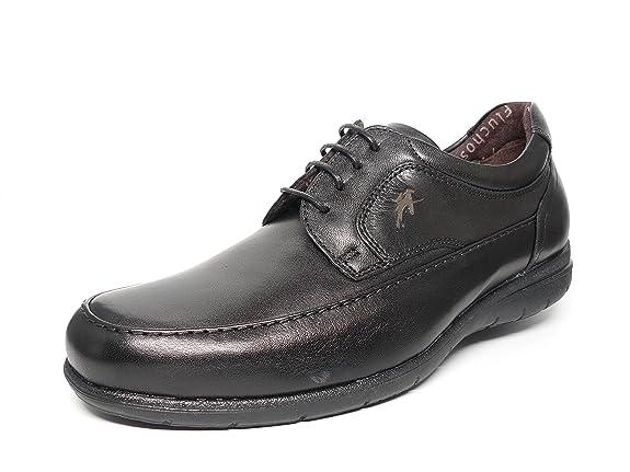 Fluchos Chaussures Homme - Cuir, Dentelle, Disponible En Marron Et Noir - 8498-57 Et 58 (45, Brun)