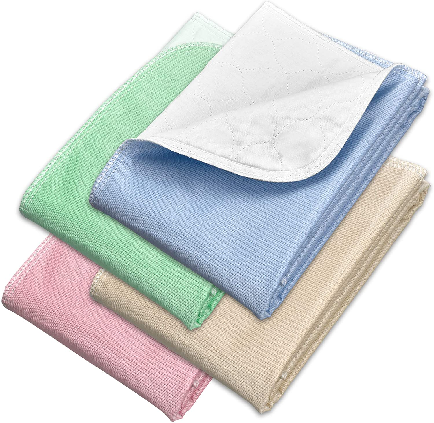 """Incontinence Bed Pads 4 Pack 34"""" x 36"""" - Reusable Waterproof Underpad Chair and Mattress Protectors - Highly Absorbent, Machine Washable - for Children, Pets and Seniors- Multicolor - Royal Care"""
