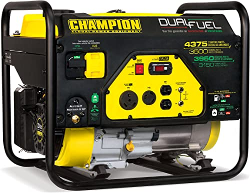 Champion Power Equipment 100307 4375 3500-Watt Dual Fuel RV Ready Portable Generator