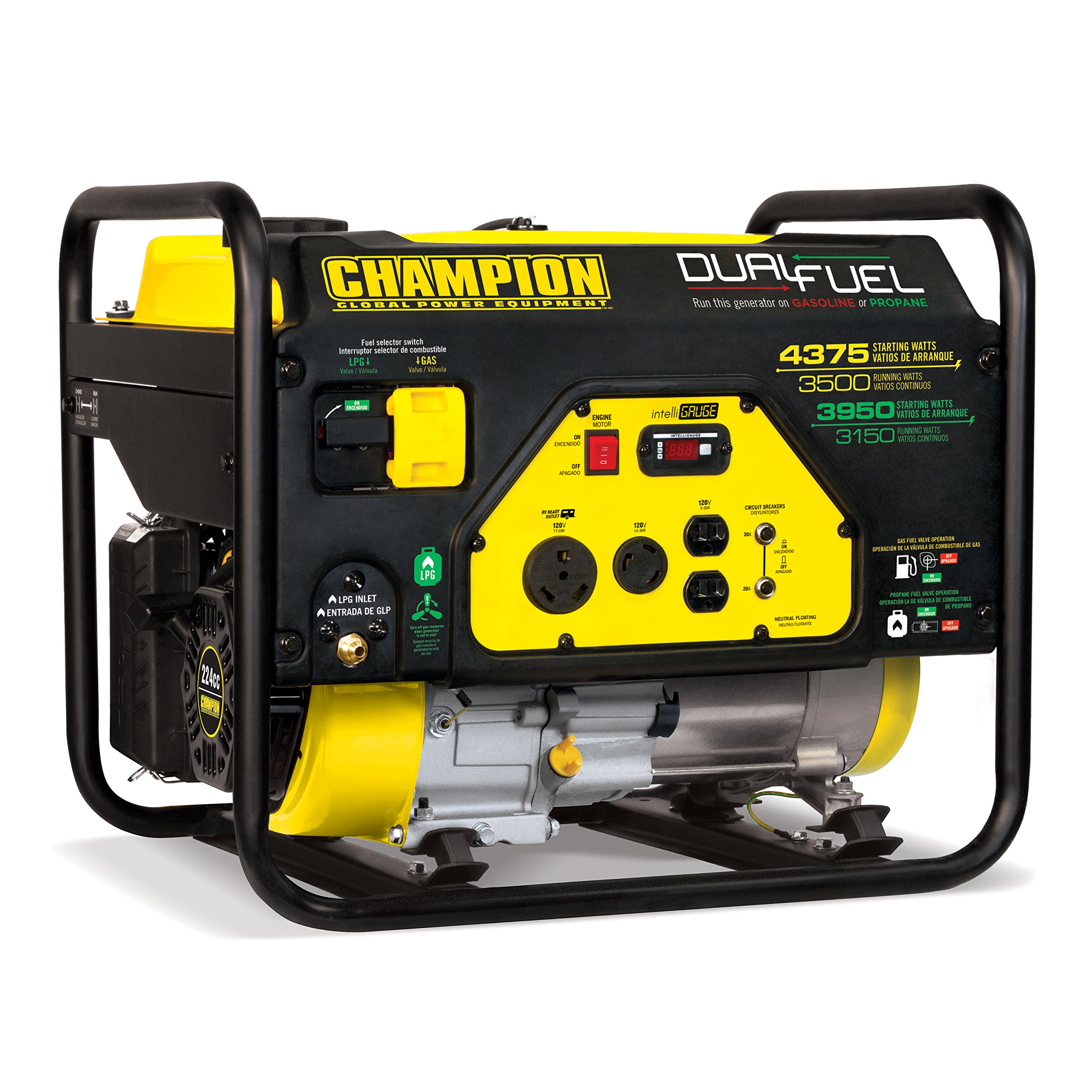 Champion 3500-Watt Dual Fuel RV Ready Portable Generator by Champion Power Equipment