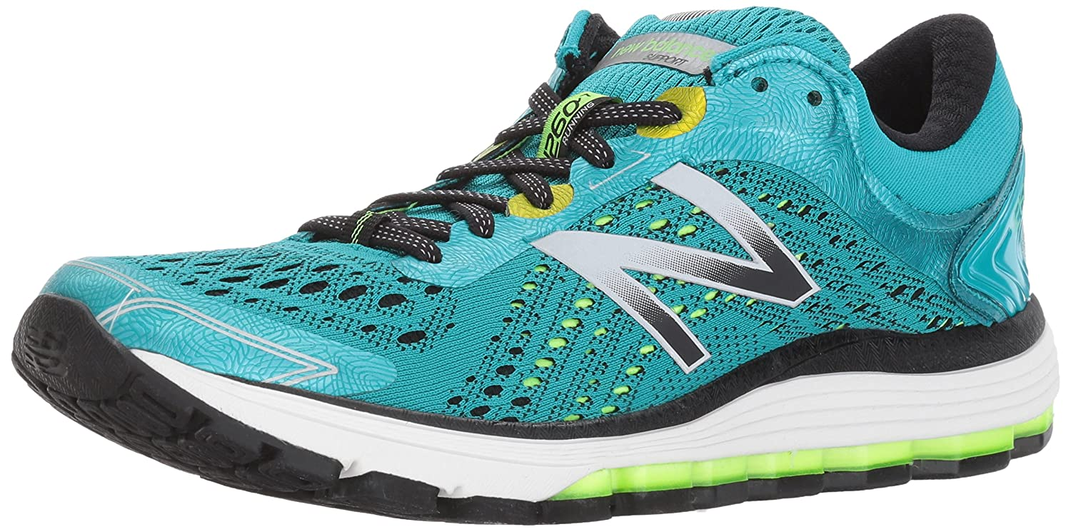 New Balance Women's 1260v7 Running Shoe B01MQLRDFB 5 D US|Pisces Blue/Lime Glo