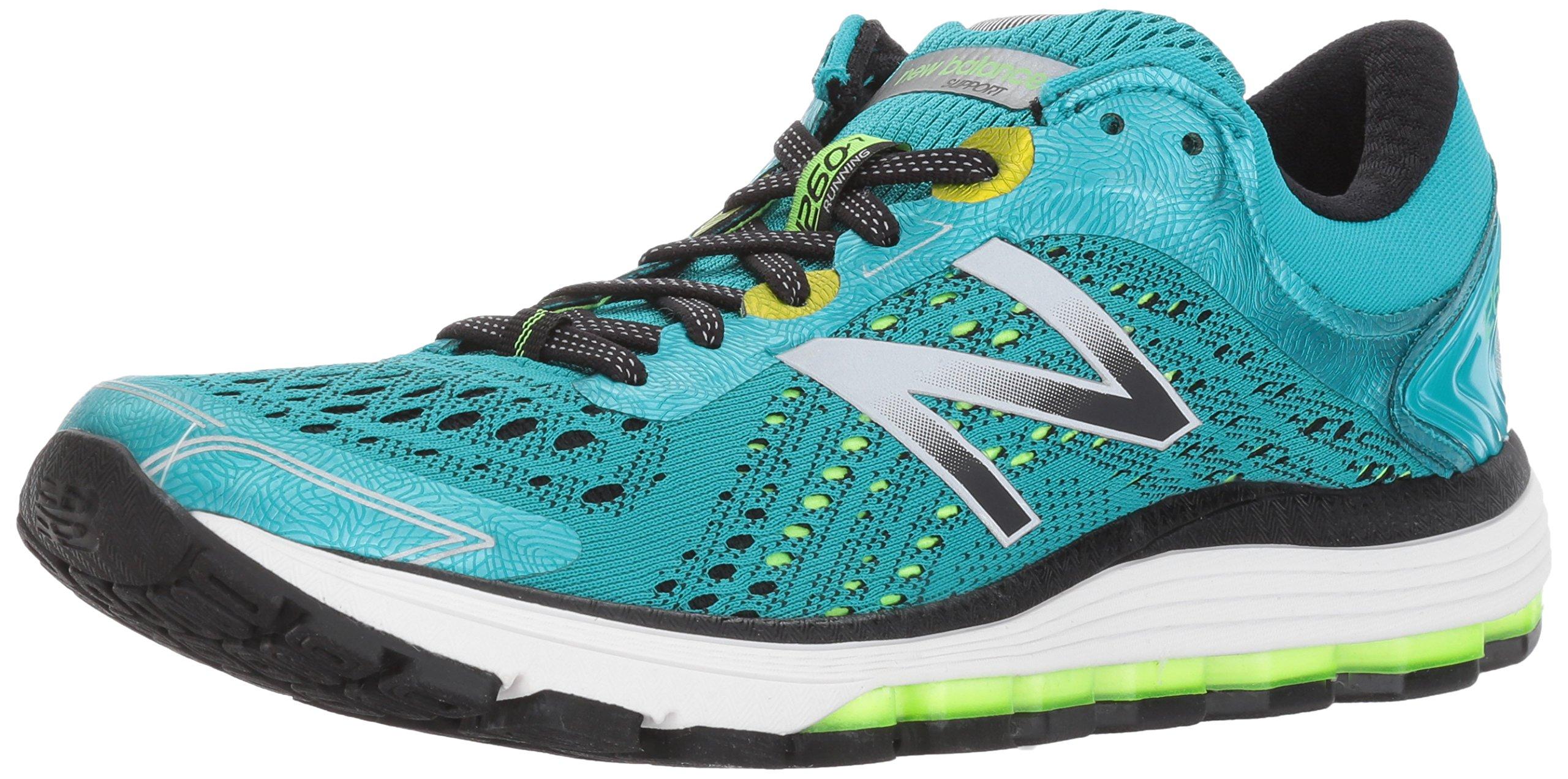 New Balance Women's 1260V7 Running Shoe, Pisces Blue/Lime Glo, 7 B US