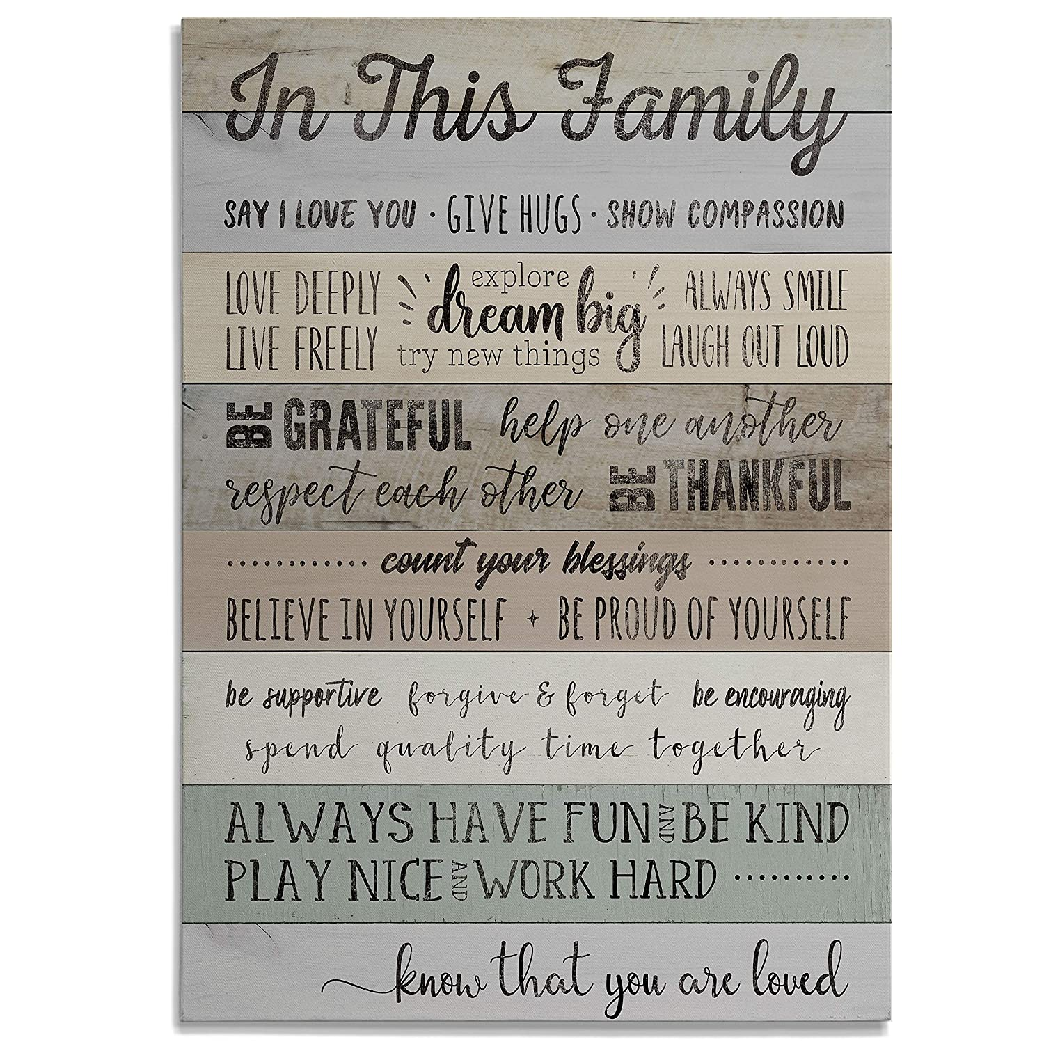 Renditions Gallery in This Rules Wrapped Canvas Decorational Modern Wall Art for Family Living Office Bedroom 18X24