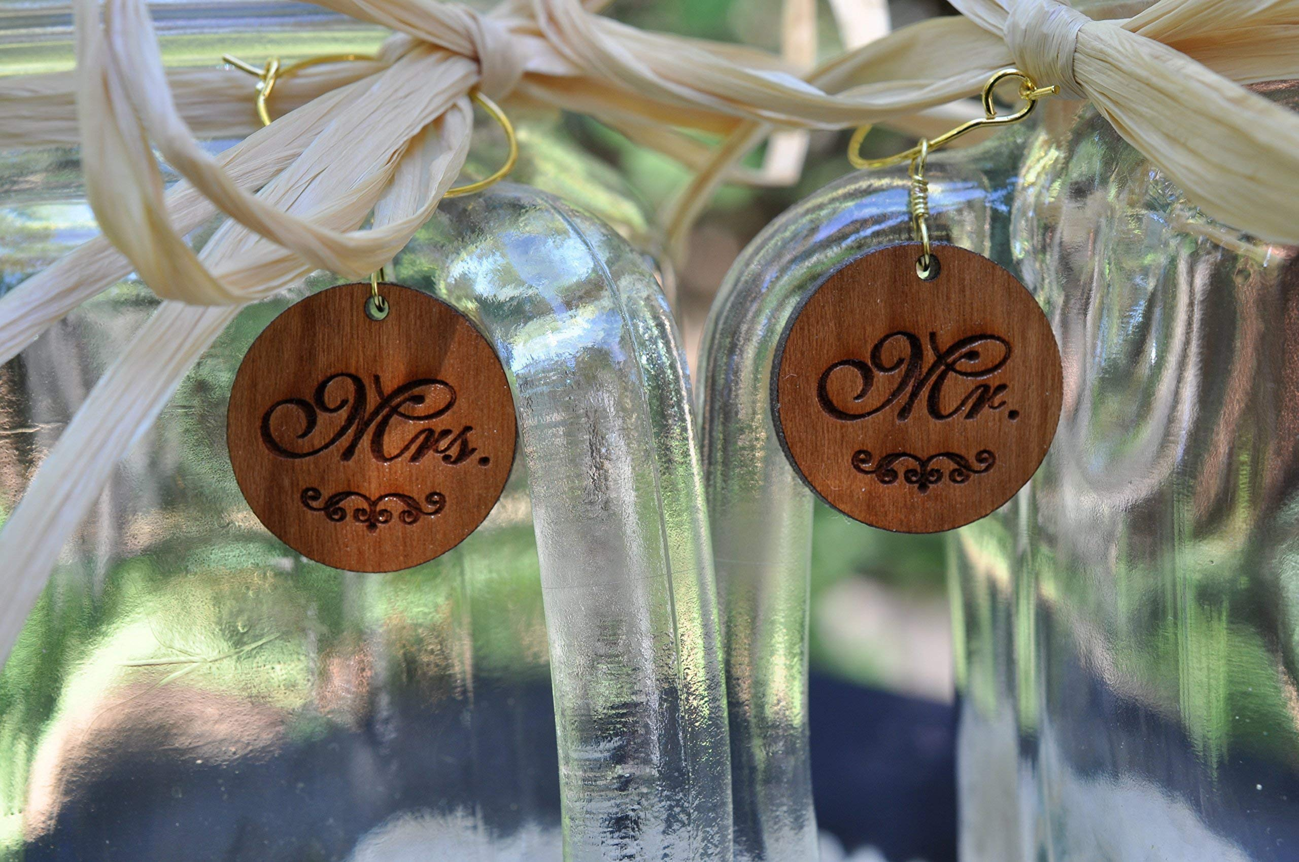 Bride and Groom Wedding Mason Jars for your Western Wedding Personalized with Name and Date. by Design Imagery Engraving (Image #3)
