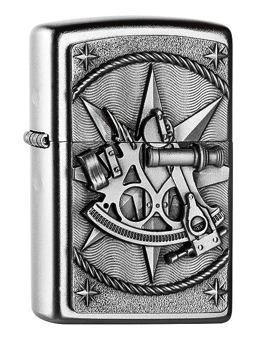 Zippo Feuerzeug 2004654 Sextant Emblem Encendedor, latón: Amazon ...