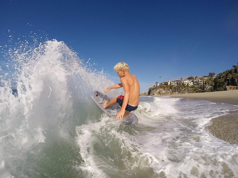 Wave Bandit Shred Sled Mini Surfboard, Neon Pink, 37