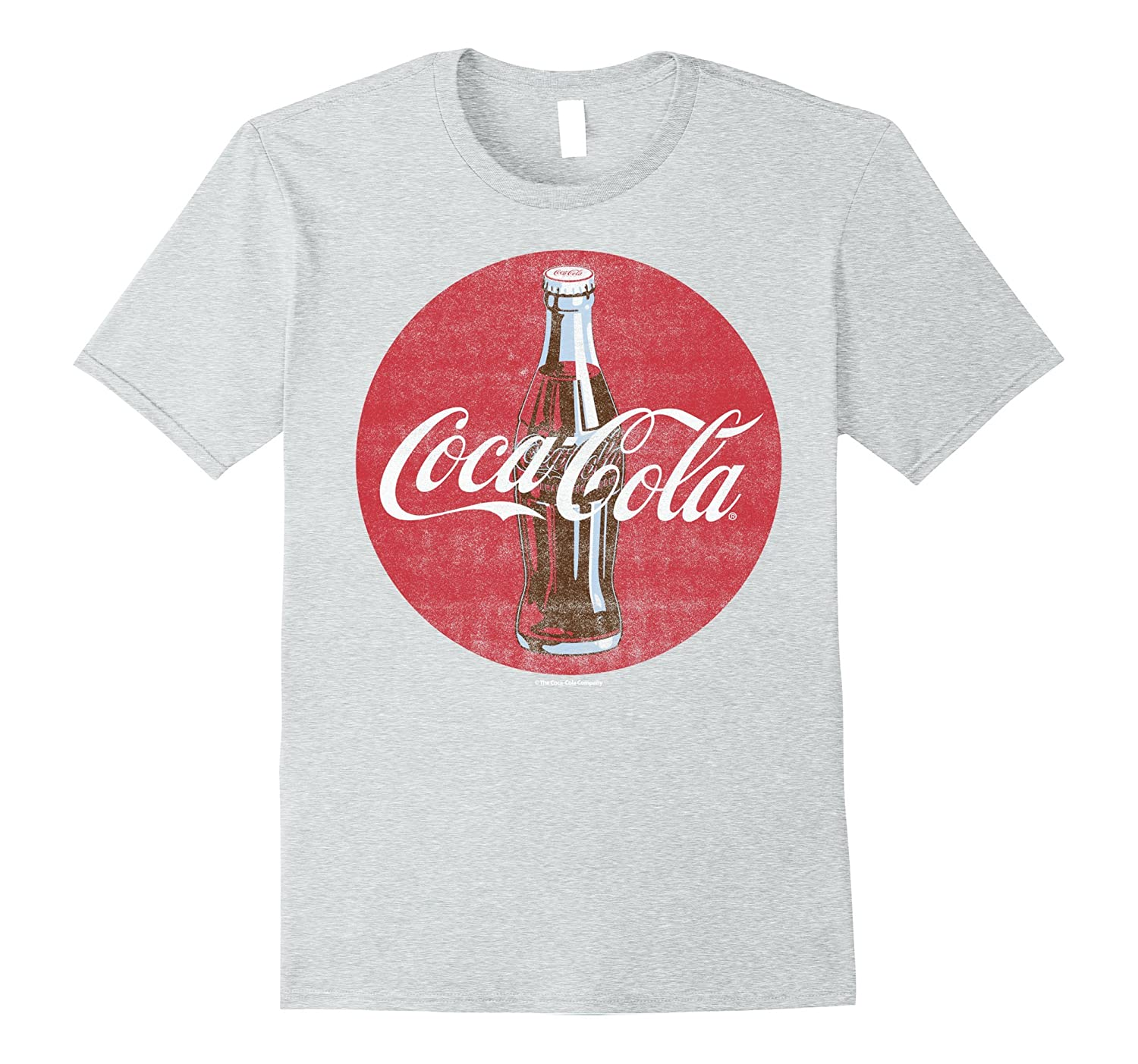 842cf925f Coca-Cola Vintage Retro Bottle Disc Logo Graphic T-Shirt-ANZ ...