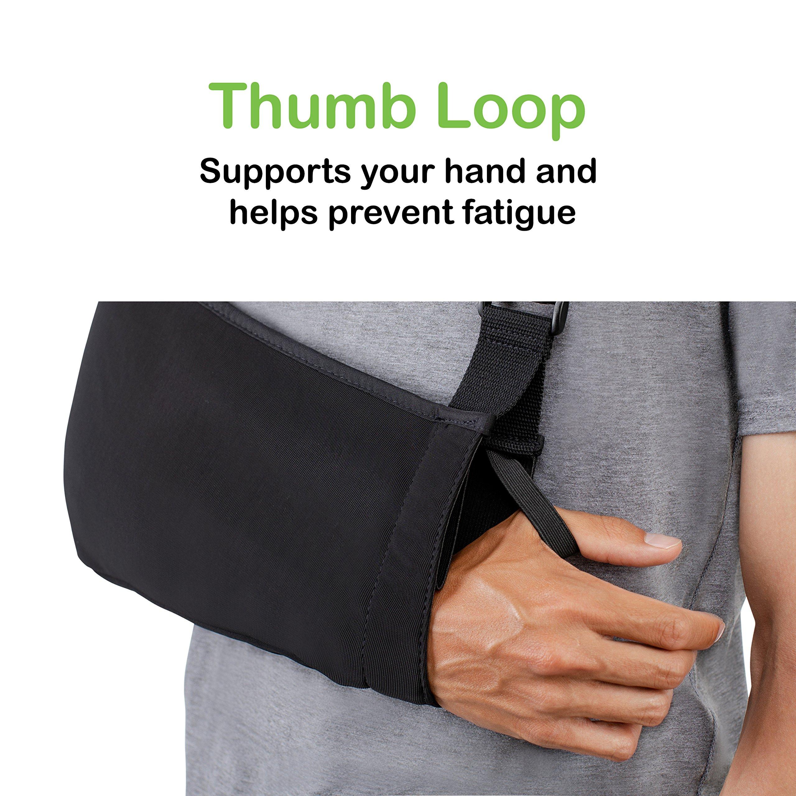 Think Ergo Arm Sling Sport - Lightweight, Breathable, Ergonomically Designed Medical Sling for Broken & Fractured Bones - Adjustable Arm, Shoulder & Rotator Cuff Support (Adult) by Think Ergo (Image #4)
