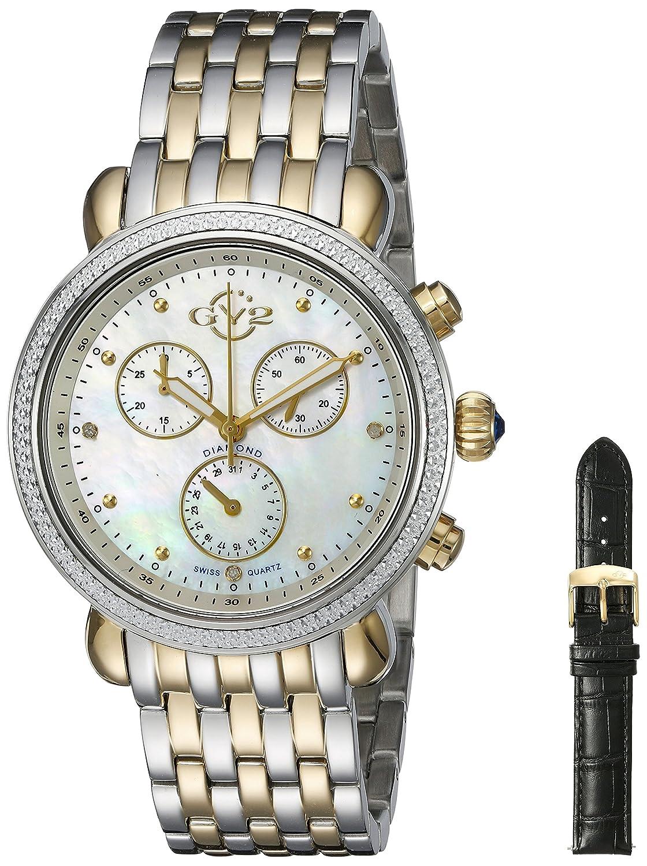 gv2 by Gevrilレディース9809 MarsalaアナログDisplay SwissクオーツTwo Tone Watch B00Y7YJSAI