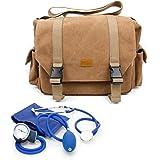 DURAGADGET Sac en toile beige de premiers secours pour infirmiers / aide soignants / médecins / secouristes / pompiers - compartiments pour votre matériel médical