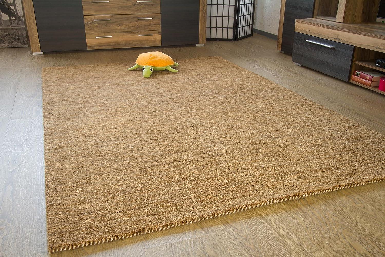 Gabbeh Teppich Nomade - Handarbeit aus 100% Schurwolle - sand meliert, Größe  80x150 cm