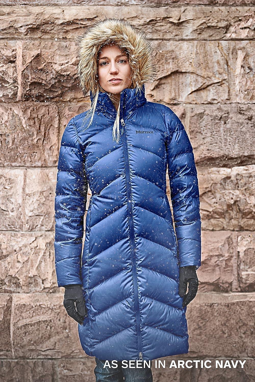 Giacca Impermeabile Idrorepellente Marmot Wms Montreaux Coat Antivento Piumino Leggero Isolante Cappotto da Esterno Densit/à dellImbottitura 700