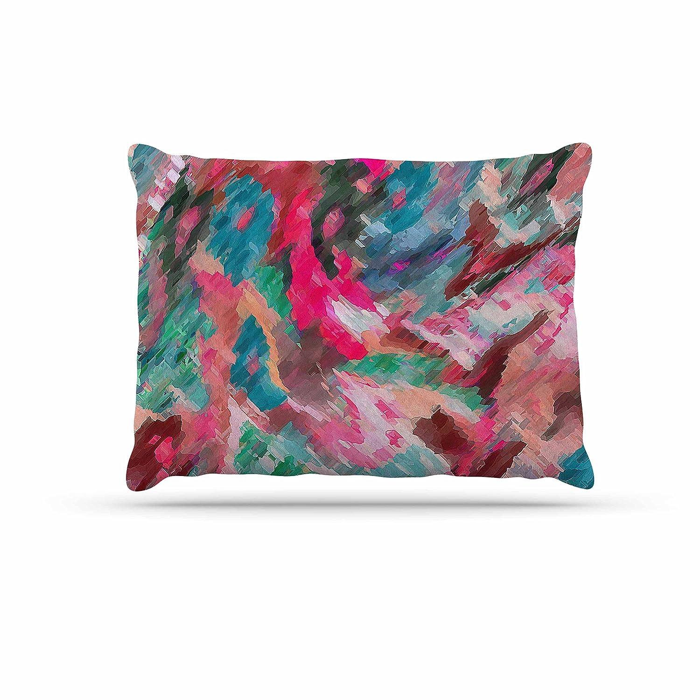 KESS InHouse Alison Coxon Poppies Indigo Purple Black Dog Bed, 50  x 40