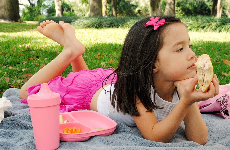 Hergestellt in den USA nachhaltig durch Recyclingmaterial Re-Play Kinder Trinklernbecher Auslaufsicher BPA-frei Pink 2er Set