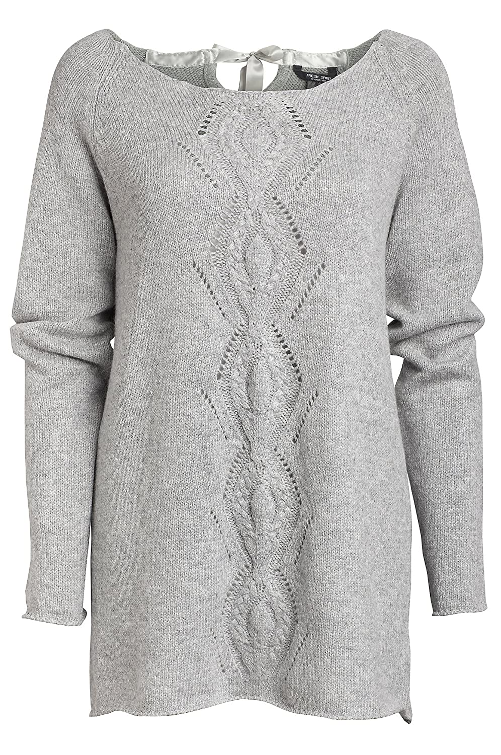 9190297b204 Ladies Long Grey Soft Cotton Wool Jumper in Womens Plus Sizes 16-30  Amazon.co.uk   Clothing