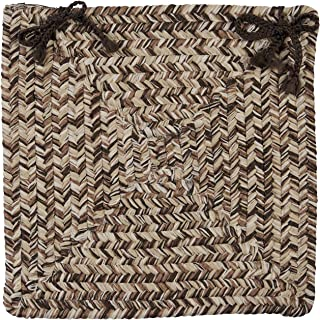 product image for Colonial Mills CC99 Corsica Chair Pad, 15 by 15-Inch, Weathered Brown, 4-Pack