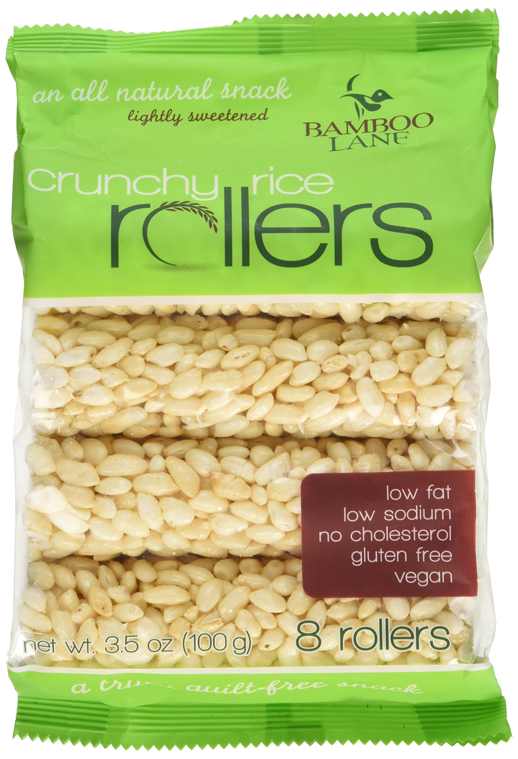 Bamboo Lane Crunchy Rice Rollers: 3.5oz 8 Packs of 8 Rollers by Crunchy Rice Rollers