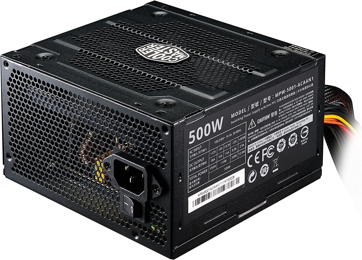 Cooler Master Elite 500W Ver.3 - ATX Power Supply Quiet 120mm Fan PCI-E Support