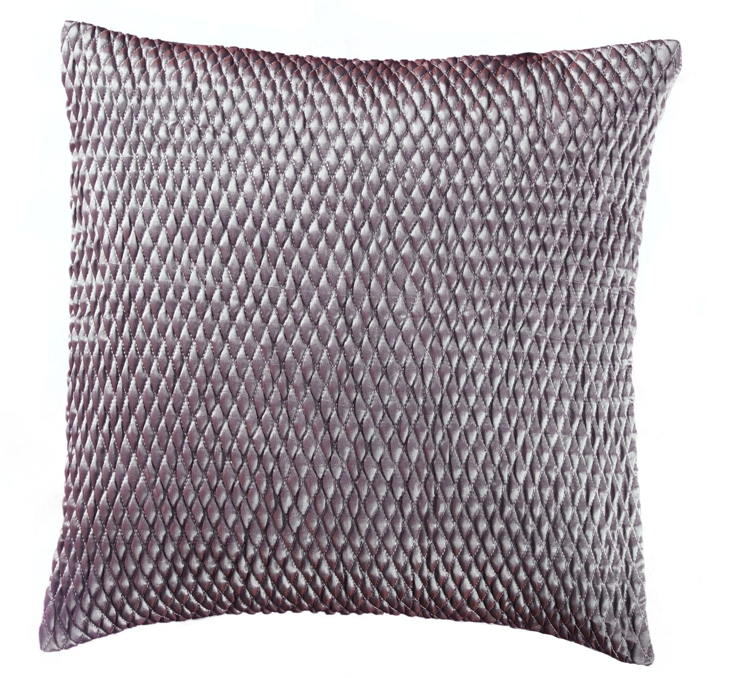 Loft Collection Gathered Sateen Diamond Decorative Pillow Replacement Cover, Spa Blue by Loft Collection (Image #1)