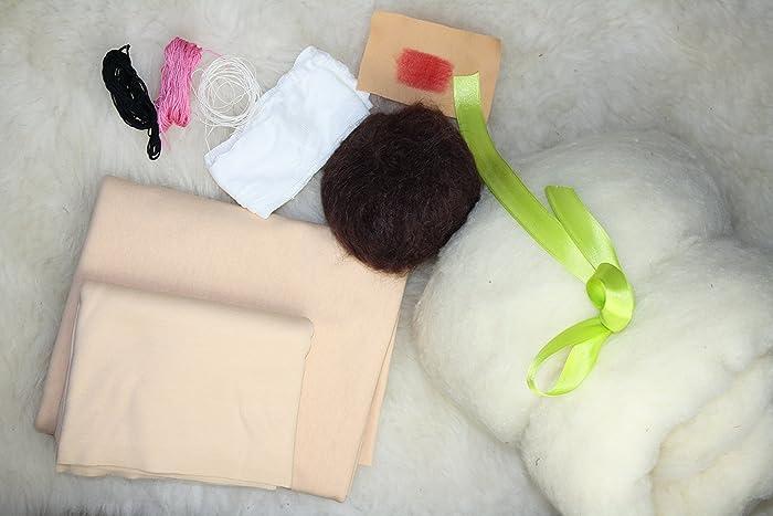 Inkl. Papier Schnittmuster 30 cm Puppe Material für Waldorfpuppe zum ...