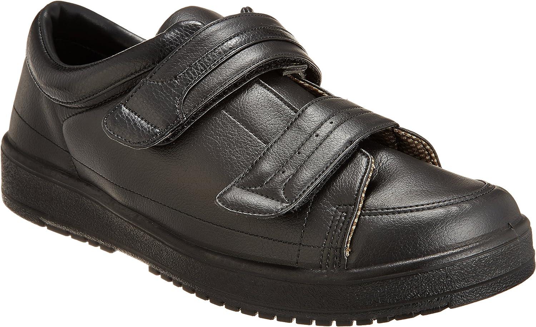 [ムーンスター] メンズ リハビリ 介護靴 片足販売 Vステップ04(右足のみ) 0298as ブラック 右28.0cm