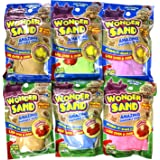 Wonder Sand Shapeable Kinetic Molding Sand (6 packs with 3 molds assorted colors)