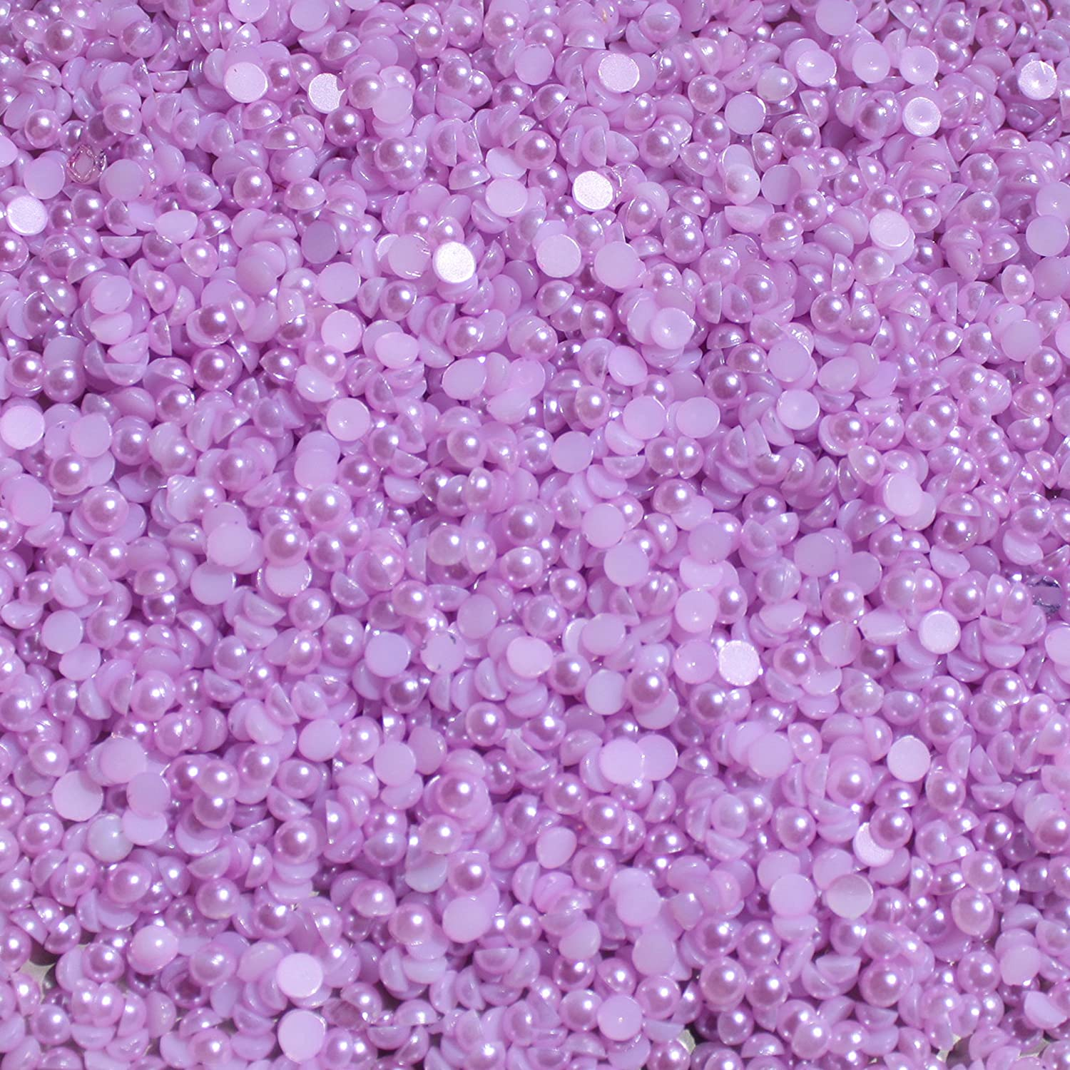Craft Scrapbooking Choose Your Color and Size 3mm, African Violet Blinggasm 1000 Half Pearl Beads Flat Back