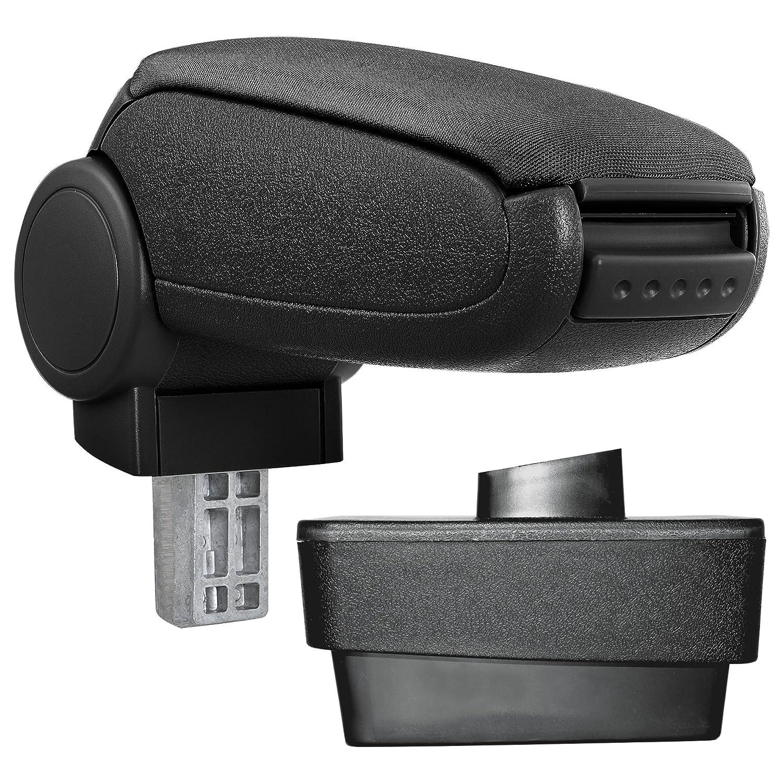 [pro.tec] Reposabrazos central - Apoyabrazos con compartimento - acolchado - tela - negro: Amazon.es: Coche y moto
