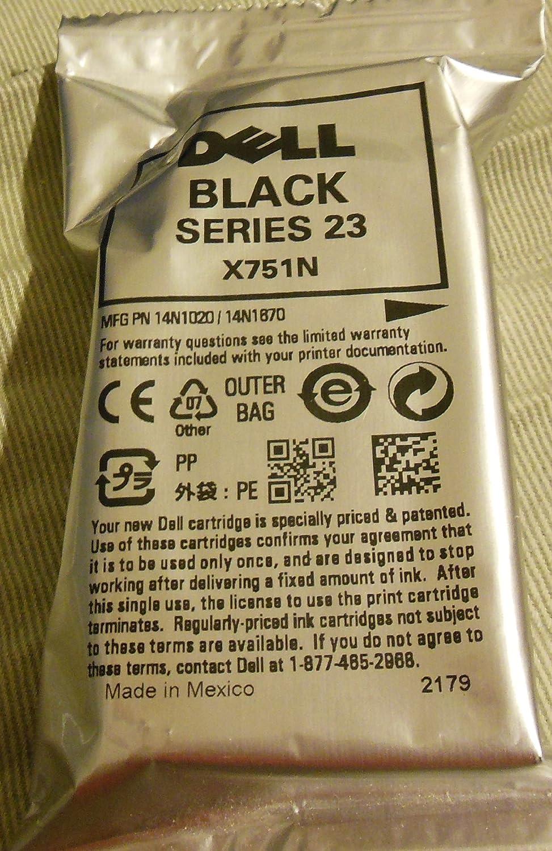 Dell Printer Ink Cartridge Black (as shown) Series 23 X751N New in Foil