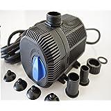 Filterpumpe bis 2300/h Energiespar Eco- Pumpe Teichpumpe Bachlaufpumpe 10m Kabel
