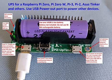 Alchemy Power Inc. - Pi-Zero-UpTime. UPS for Pi or other