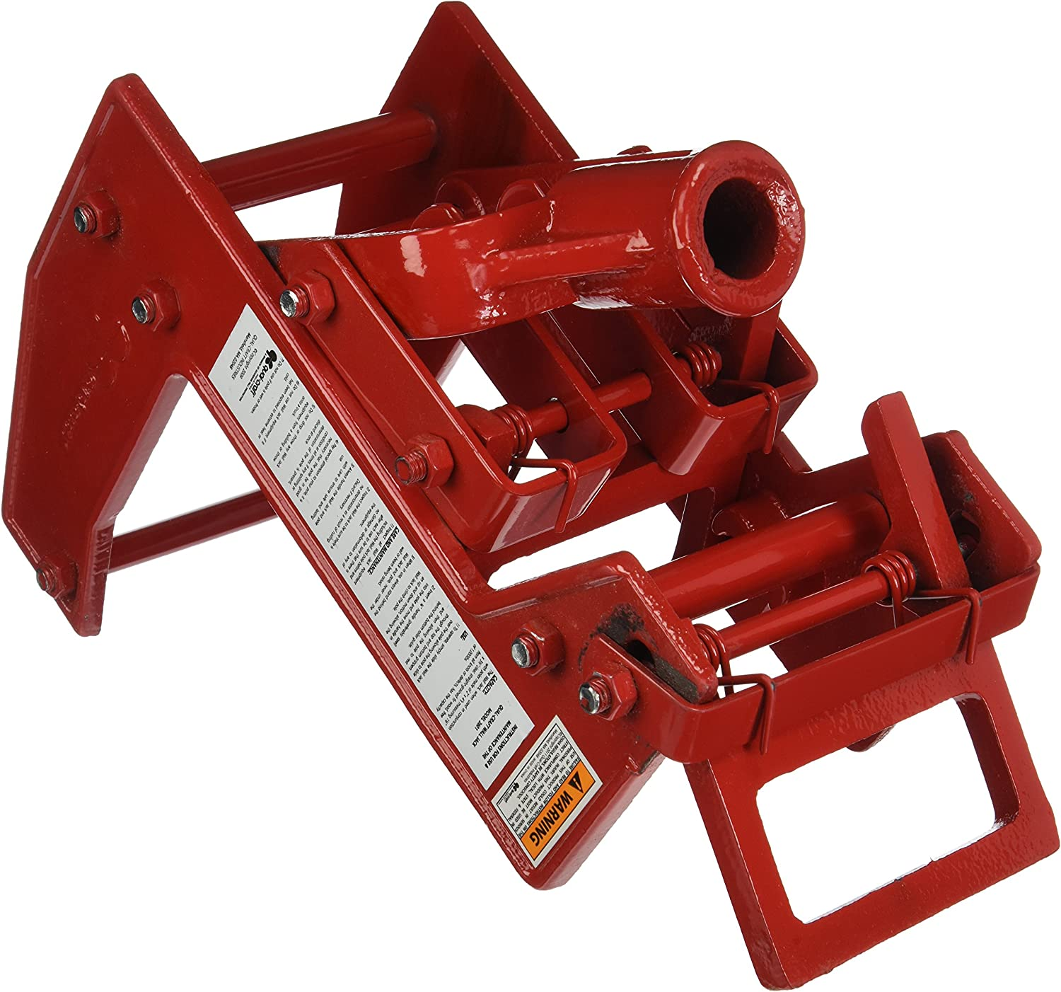 B0000224MY Qualcraft 2601 Portable Wall Jack, for Use with 1-1/2 X 3-1/2 in Fir Poles Or 1 in Od Steel Pipe, Malleable Iron, Red 91dUoKPGzQL