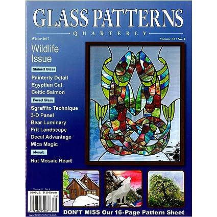 Amazon Glass Patterns Quarterly Winter 40 Arts Crafts Sewing New Glass Patterns Quarterly