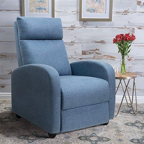 Tuoze Recliner Chair Ergonomic Adjustable Single Fabric Sofa