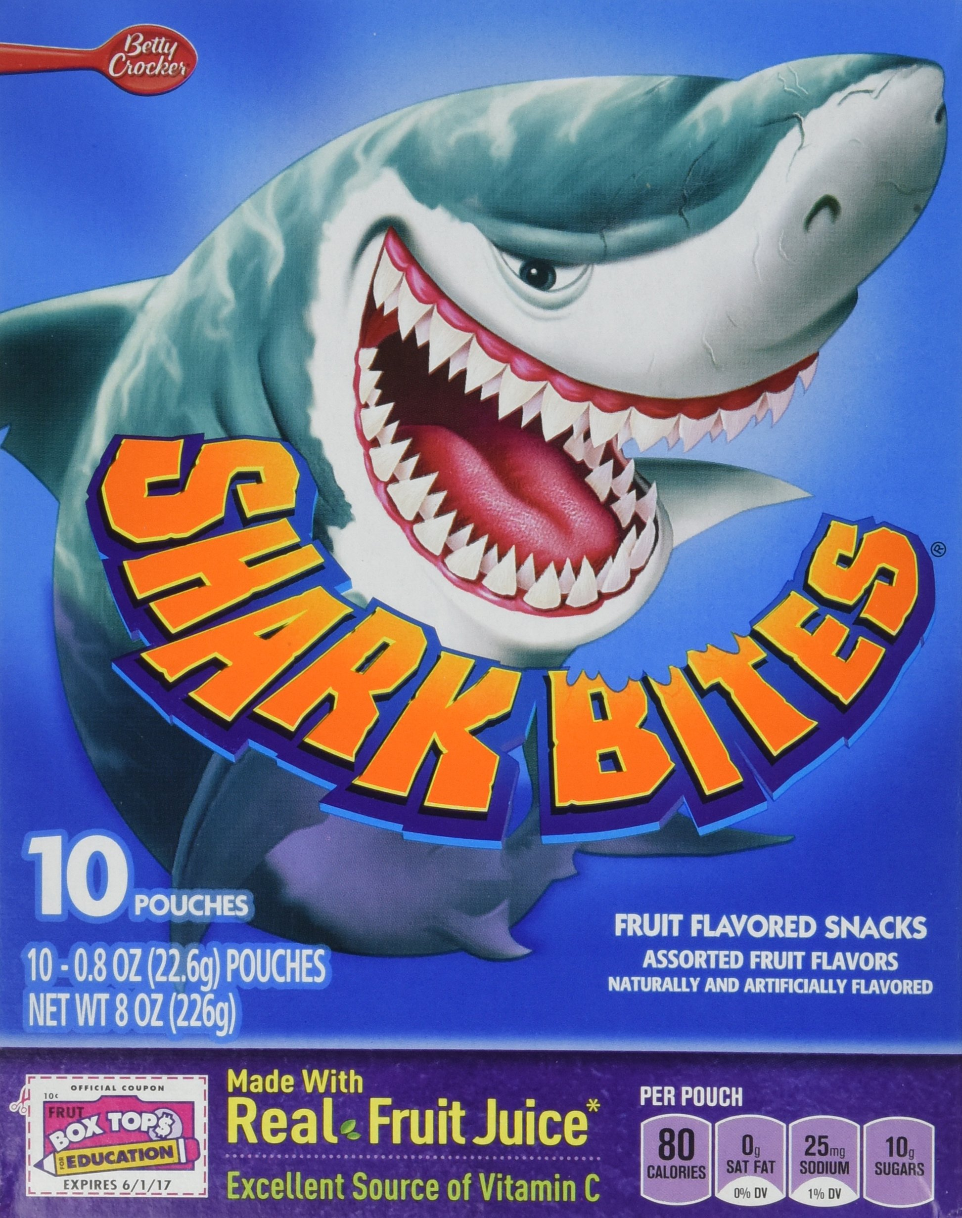 Betty Crocker Shark Bites Fruit Flavored Snacks - 8 oz box (2 Pack) by Betty Crocker (Image #1)