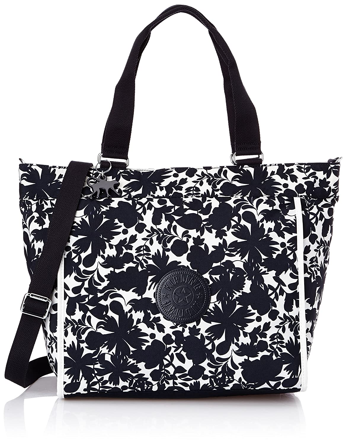 [キプリング] キプリング KIPLING Amazon公式 正規品 NEW SHOPPER L トートバッグ K16659 M13(fiesta animal) K16659 B00UJB4ZRO Blue Flower Tf Blue Flower Tf