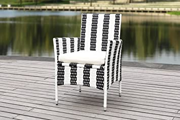 Awesome Amazon Com Safavieh Outdoor Collection Kendrick Black Gmtry Best Dining Table And Chair Ideas Images Gmtryco