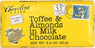 product image for Chocolove Toffee and Almonds in Milk Chocolate, 3.2 Ounce (Pack of 12)
