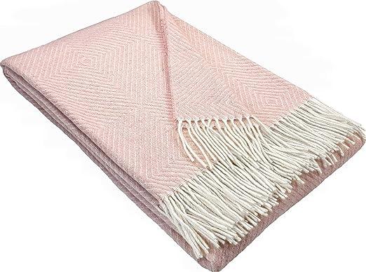 Stts International Wohndecke Wolldecke 140 X 200 Cm Decke Tagesdecke Kuscheldecke Plaid Garda Rosa Amazon De Kuche Haushalt