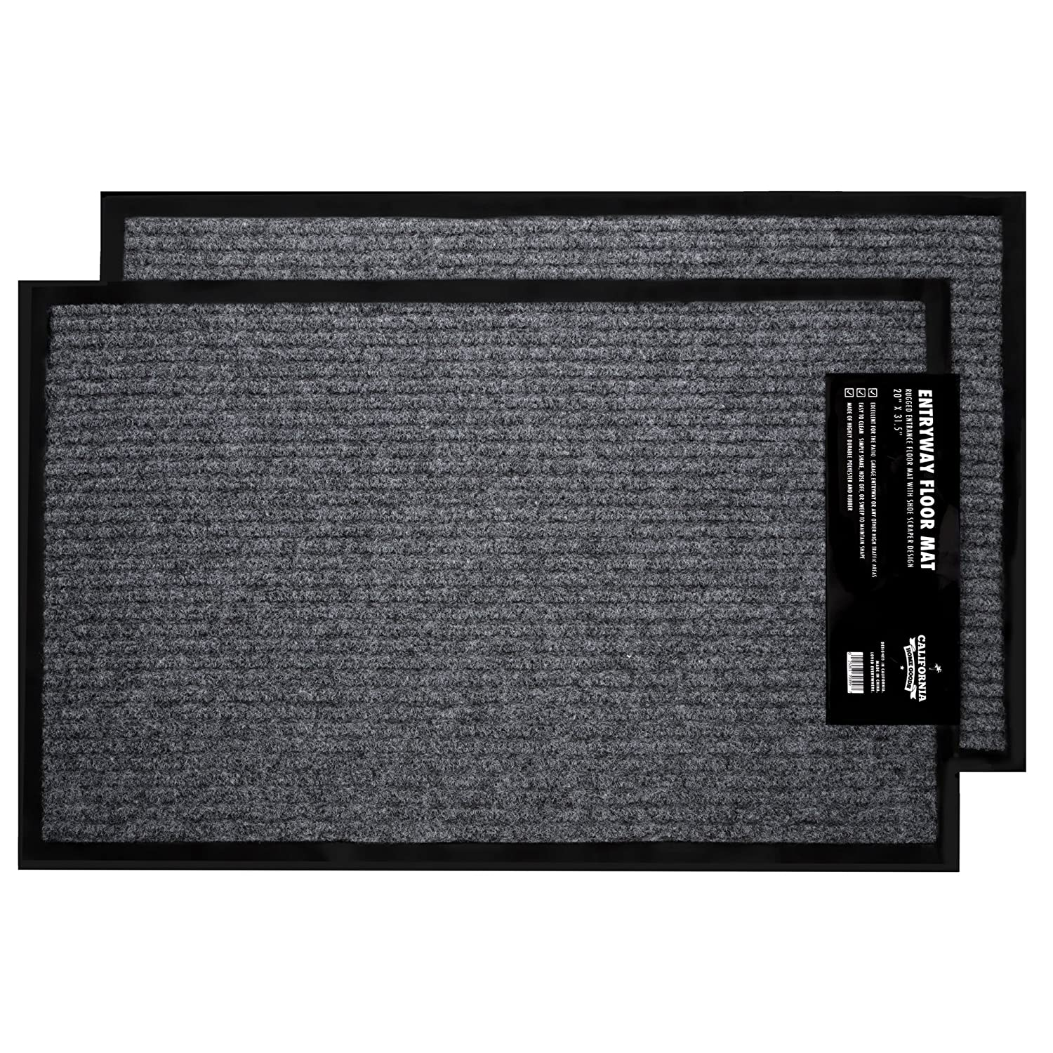 Indoor Outdoor Floor Mats 2-Pa...