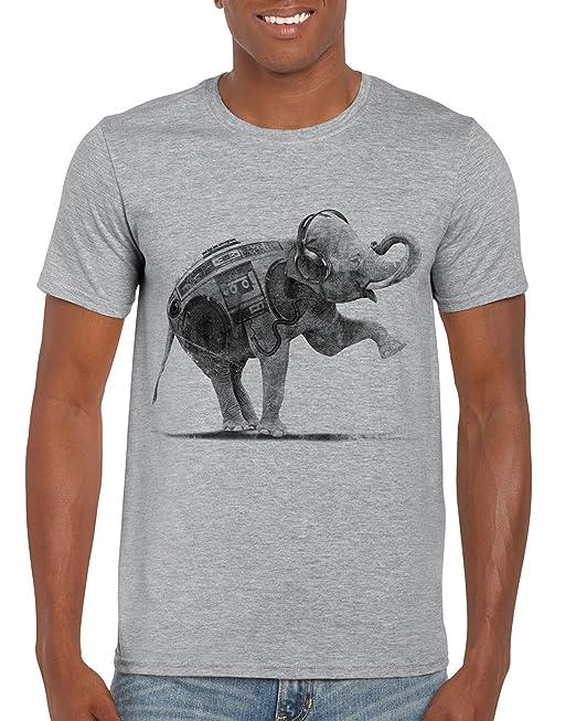 Tees UK - Camiseta - Animal Print - Manga corta - para hombre gris Sport Grey Marl X-Large: Amazon.es: Ropa y accesorios
