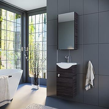 Bevorzugt Planetmöbel Badmöbel Set Waschtisch + Waschbecken + Spiegelschrank RQ73