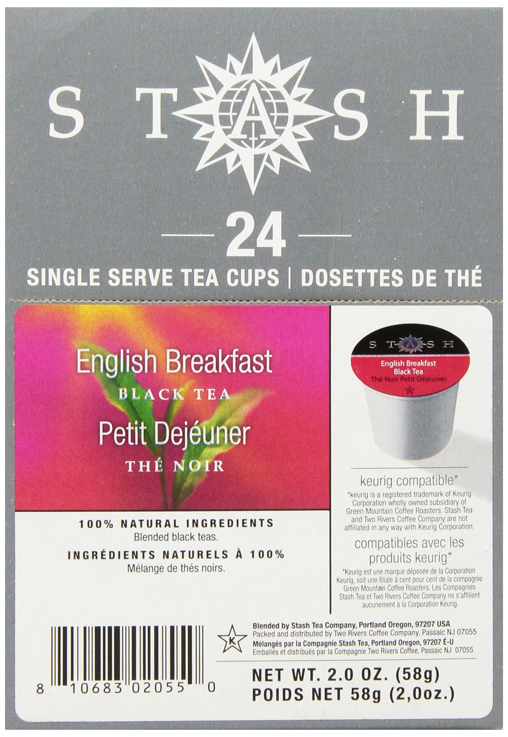 Stash Tea English Breakfast Single-Cup Tea for Keurig K-Cup Brewers, 24 Count